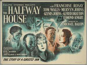 Halfway House (1944) British Quad film poster, Ealing Studios, produced by Michael Balcon, folded, 30 x 40 inches