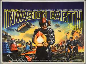 Daleks Invasion Earth 2150 AD (1966) British Quad film poster, starring Peter Cuhing and Bernard Cribbins, British Lion, folded, 30 x 40 inches
