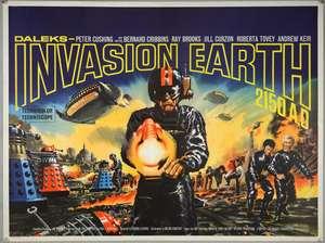Daleks Invasion Earth 2150 AD (1966) British Quad film poster