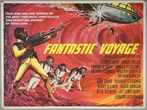 Fantastic Voyage (1966) British Quad film poster, starring Raquel Welch, folded, 30 x 40 inches