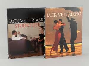 "Jack Vettriano. Two signed hardback books: ""A Life"" & ""Studio Life (2)"