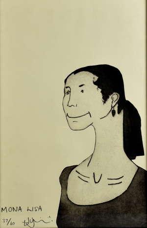 Contemporary art print, 'Mona Lisa'. 37/60. 60cm x 41cm