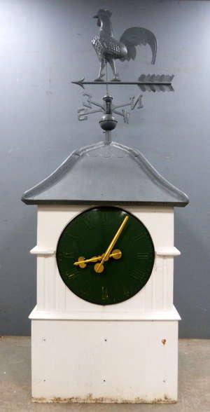 20th century Weathercock / clock  building finial  220cm