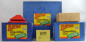Three Bayko sets, two complete,