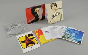 Paul Weller - Signed Special Edition 1992 first solo CD Album. 'Stanley Road' Deluxe Edition on 2 promo  CDR's for 2005 reissue plus a promo postcard for this release. 'Wildwood to Heavy Soul' 8 Track Promo CD. 'Modern Classics' 5 Track Prom