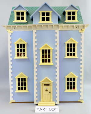 An extensive collection of dolls houses, buildings, furniture, figures and other accessories (qty)