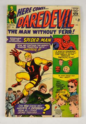 Daredevil - No. 1 Comic (Marvel 1964) First issue written by Stan Lee & illustrated by Bill Everett.