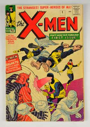 X-Men - No. 1 Comic (Marvel 1963) First issue with artwork by Jack Kirby.