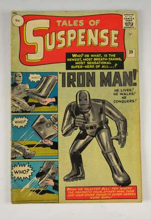 Tales of Suspense - No. 39 (Marvel 1962) First appearance of Iron Man, plot by Stan Lee & art by Don Heck.