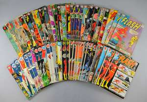 The Flash (DC) 60 comics from 1963 onwards, No's 139, 144, 145, 152, 160-164, 166, 167, 170, 174, 176, 178, 179, 181, 182, 188, 190, 192-194, 196, 197, 201, 202, 205-212, 217-228 & duplicates