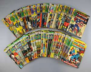 Captain America (Marvel) 70+ comics from 1967 onwards, No's 100-112, 114, 115, 118-135, 137, 146, 160-171, 176, 178, Specials & duplicates