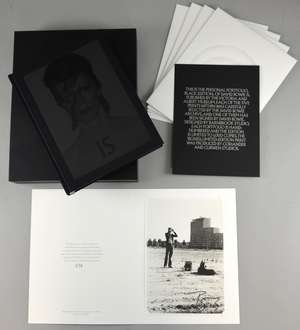 David Bowie IS Personal Portfolio black collector's edition book of the V&A exhibition, acclaimed catalogue includes five extra prints: including a photograph taken in Berlin signed by David Bowie, print of a painting by Bowie, print of early album a