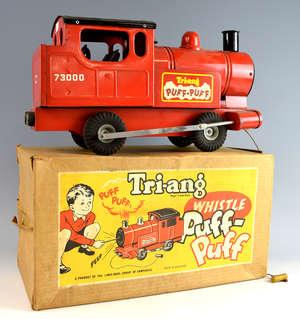 Tri-ang Whistle Puff Puff in original box, 45cm