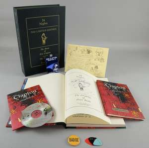Eric Clapton - '24 Nights' The Limited Edition book featuring the music of Eric Clapton & the drawings of Peter Blake by Genesis Publications, signed to the inside by Peter Blake & Clapton, numbered 562, includes a scrapbook with sketches & unseen ph