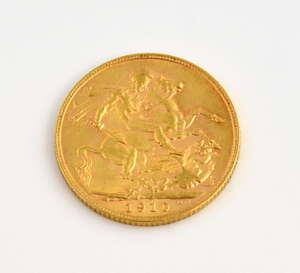 Edward VII full sovereign 1910