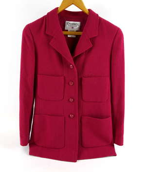 ce4841e25 Chanel blazer style silk lined jacket from Autumn 1998 collection with  typical chain to hem in