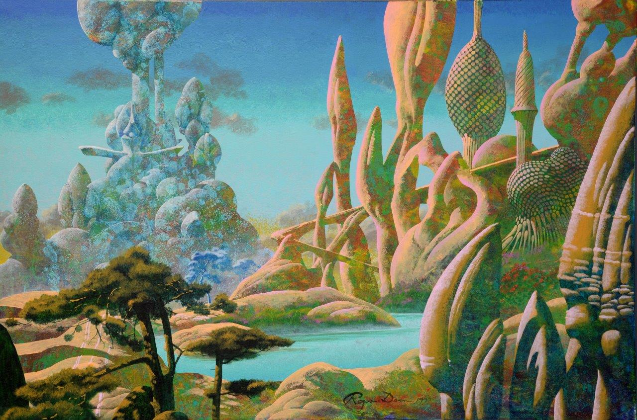 Iconic Roger Dean Paintings And Legendary David Bowie S