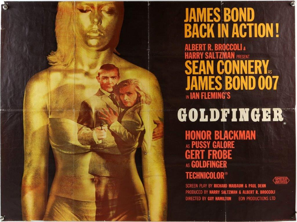Goldfinger Poster Auction